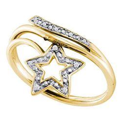 10KT Yellow Gold 0.03CTW DIAMOND FASHION RING