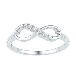 10KT White Gold 0.05CTW DIAMOND FASHION RING