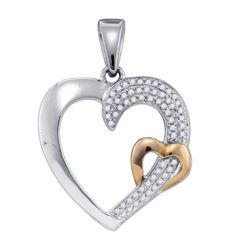 925 Sterling Silver White 0.15CTW DIAMOND MICRO PAVE HE