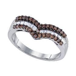 925 Sterling Silver White 0.50CT DIAMOND FASHION RING