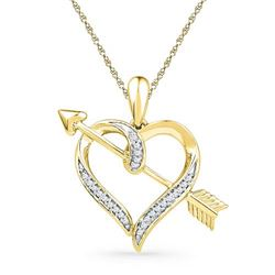 10K Yellow-gold 0.08CTW DIAMOND FASHION PENDANT