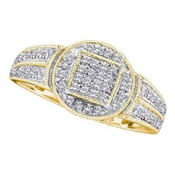 10K Yellow-gold 0.20CTW DIAMOND  MICRO PAVE RING