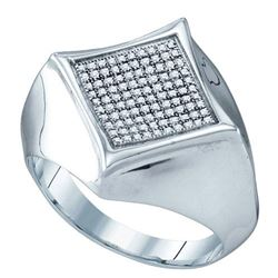 925 Sterling Silver White 0.32CTW DIAMOND MICRO PAVE ME