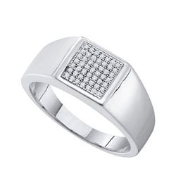 925 Sterling Silver White 0.15CTW DIAMOND MICRO PAVE ME