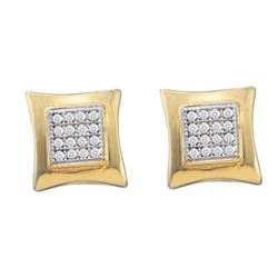 10KT Yellow Gold 0.10CTW DIAMOND MICRO PAVE EARRINGS