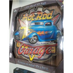 New Large LED Metal 3D Hot Rod sign