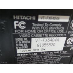 Hitachi VHS player works