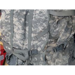Large army surplus backpack with frame