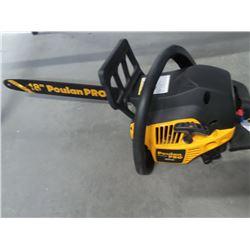 Poulan Pro 42 cc chainsaw 18 inch