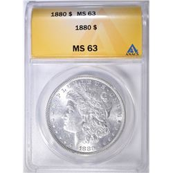 1880 MORGAN DOLLAR ANACS MS-63
