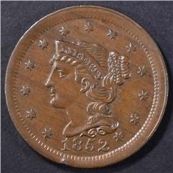 1852 LARGE CENT AU