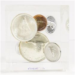 1967 Silver Coin Set in Cube