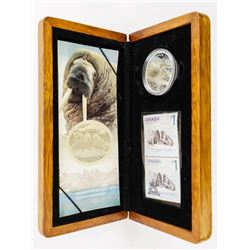2005 Atlantic Walrus Stamp and .9999 Fine Silver C
