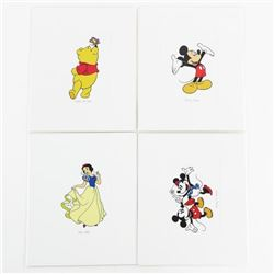 Group of (4) Disney 4x4 Fine Art Print.