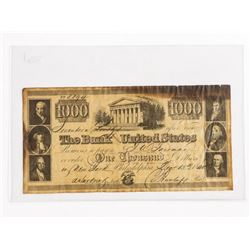 Estate The Bank United States 1840 - 1000.00