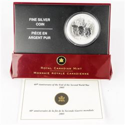 RCM 1945-2005 .9999 Fine Silver $5.00 'End of Worl