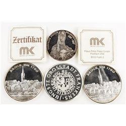 Estate Lot (4) Silver Medals 80 grams