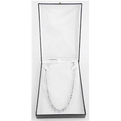 925 Silver Custom Tennis Necklace - Graduating in
