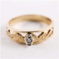 Estate Ladies 10kt Gold Diamond Band Size 10