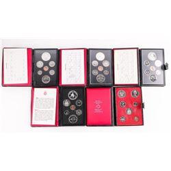 Group (5) RCM Prestige Coin Sets - Leather Cases.
