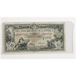 CANADIAN Bank of Commerce 1935 Ten Dollars