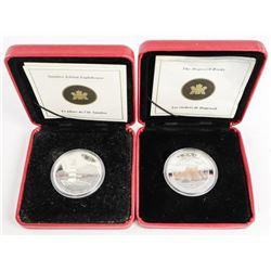 Lot (2) 9.9 Fine Silver $20.00 Coins 2oz ASW (SOR)