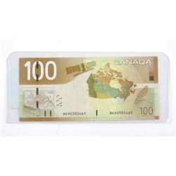 Bank of Canada 2004 One Hundred Dollar Note UNC (S