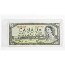 Bank of Canada 1954 20.00 Devil's Face. B/C. BC-33