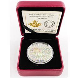 .9999 Fine Silver $20.00 Coin The Beaver - Hologra