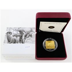 925 Sterling Silver with 24kt Gold Plated Square 3
