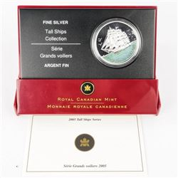 9.9 Fine Silver $20.00 Coin 2005 Tall Ships with C