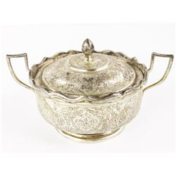 Estate 'Sterling Silver' Covered Dish, Engraved 26