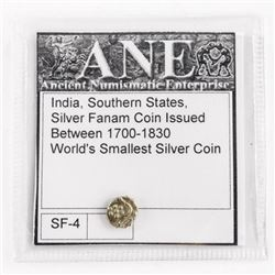 India Southern States Silver Farm Coin C1700-1830