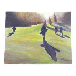 "Original Painting Estate 16x20"" Canvas Acrylic on"