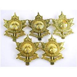 lot (5) Queens Crown Fusiliers De Sherbrooke Cap B