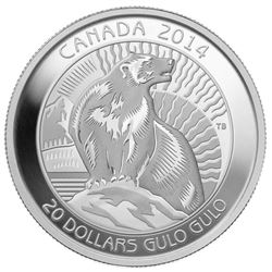 $20 The Wolverine - Pure Silver Coin