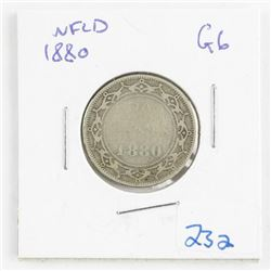 1880 NFLD Silver 20 Cents