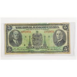 Royal Bank of Canada 1935 5.00