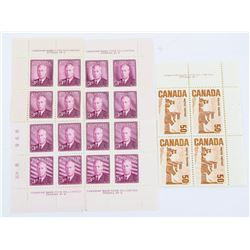 Group Mint Stamps Canada #286 - 4 Blocks x 3 cent,