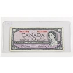 Bank of Canada * Replacement Note 1954 Ten Dollar