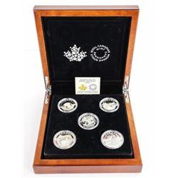 OH Canada 5 Coin Set 9.9 Fine Silver x 25.00 Each