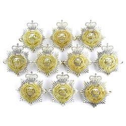 Lot (10) R.C.A.S.U. Queen's Crown Cap Badges