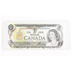 Bank of Canada 1973 1.00 AAX Prefix - BC-46A