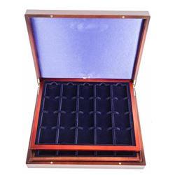 Mahogany Storage Case with Trays