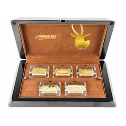Premium Size .9999 Pure Gold Bar Coin Set, Springb