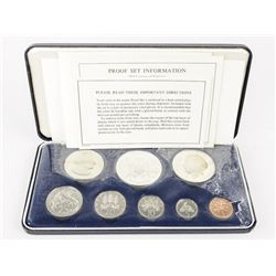 Jamaica Proof Coin Set 1974 with Silver ALL Origin