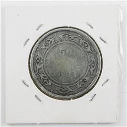 1881 NFLD Victoria 50 Cent VG8 (KE)Â