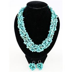 Estate Turquoise and Necklace Set
