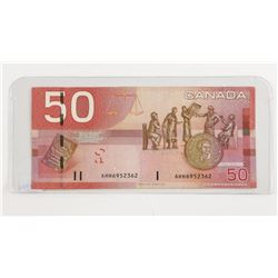 2004 Bank of Canada $50. AHH Prefix.