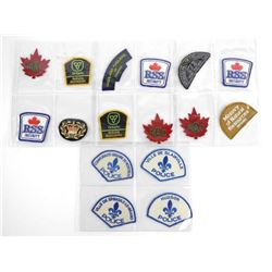 Lot of Police and Security Badges